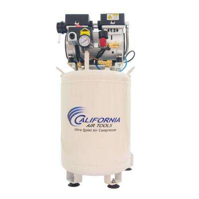 10 Gal. 1 HP Stationary Ultra Quiet and Oil-Free Industrial Electric Air Compressor with Air Dryer and Auto Drain Valve