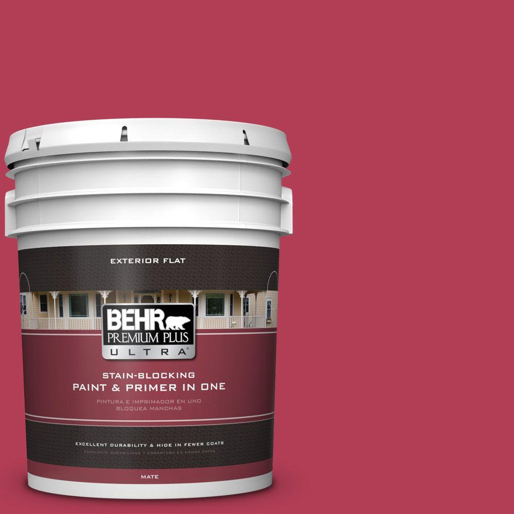 5-gal. #130B-7 Cherry Wine Flat Exterior Paint