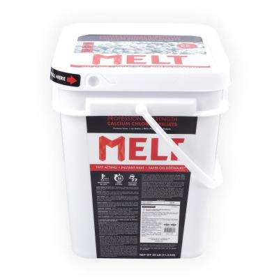 MELT 25 lb. Calcium Chloride Pellets Ice Melter Bucket