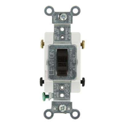 20 Amp Commercial Grade Double-Pole Toggle Switch, Brown