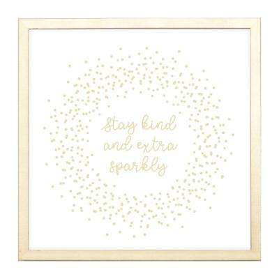Stay Kind and Extra Sparkly, GOLD FRAME, Magnetic Memo Board