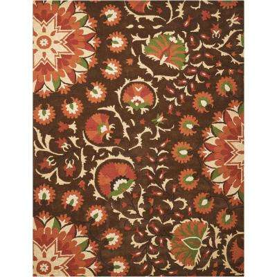 Suzani Brown 8 ft. x 11 ft. Area Rug