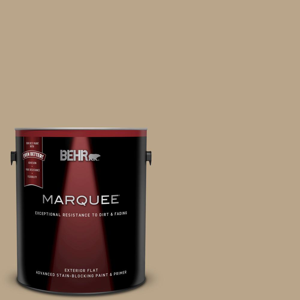 Behr Marquee 1 Gal 710d 4 Harvest Brown Flat Exterior Paint And Primer In One