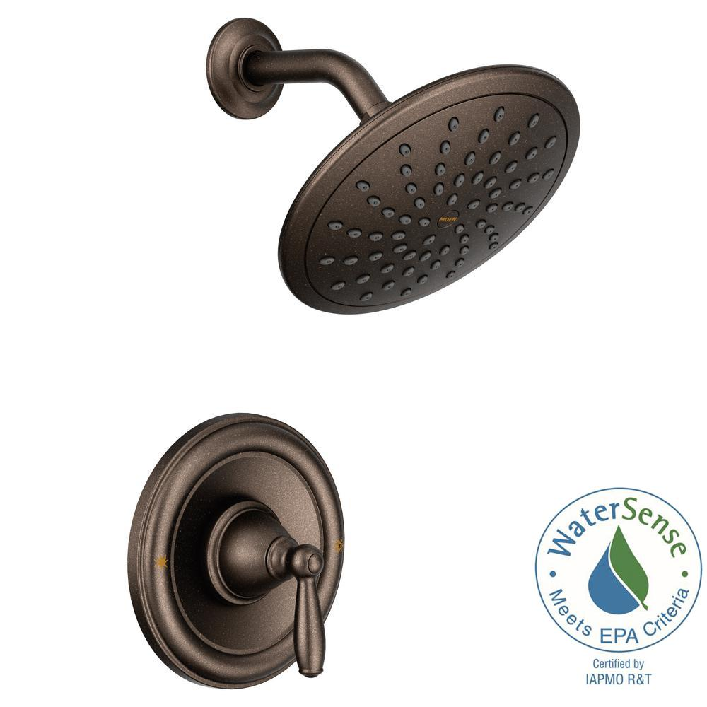 MOEN Brantford Posi Temp Rain Shower 1 Handle Shower Only Faucet Trim Kit  In Oil Rubbed Bronze (Valve Not Included) T2252EPORB   The Home Depot