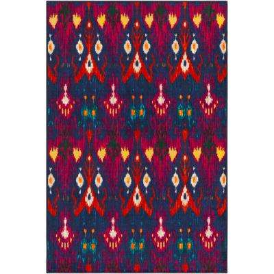 Sonya Blue 8 ft. x 10 ft. Indoor Area Rug