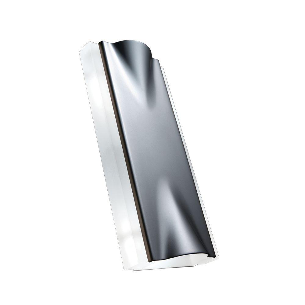 JESCO Lighting Minimalist Design 2-Light Black and Eco-bright Aluminum Wall Sconce