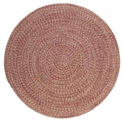 Cicero Rosewood 4 ft. x 4 ft. Round Area Rug