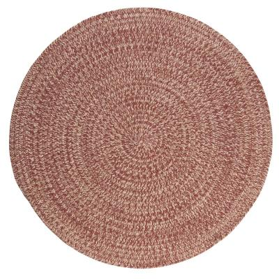 Cicero Rosewood 8 ft. x 8 ft. Round Braided Area Rug