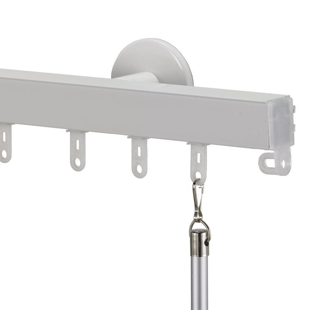 Nexgen Non-Telescoping 132 in. Aluminum Traverse Rod in White
