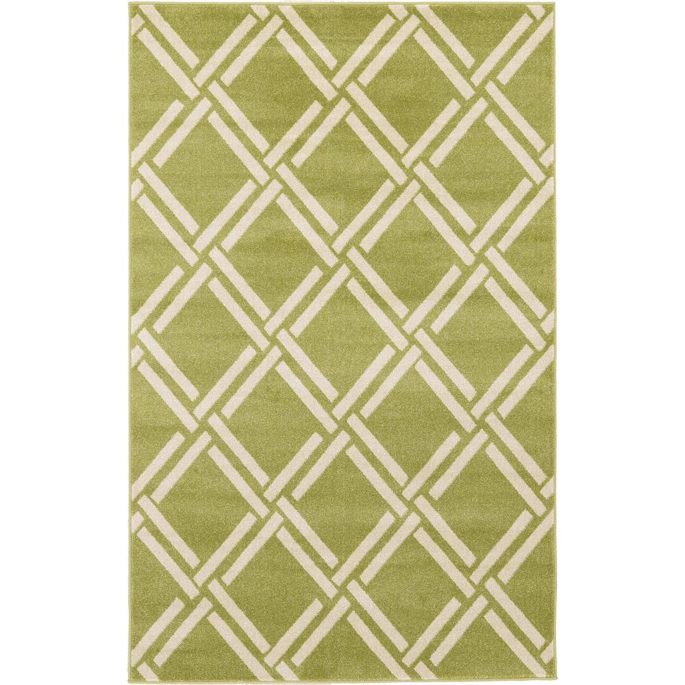 Trellis Green 5 ft. x 8 ft. Area Rug