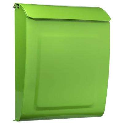 Aspen Locking Wall Mount Mailbox Lime Green
