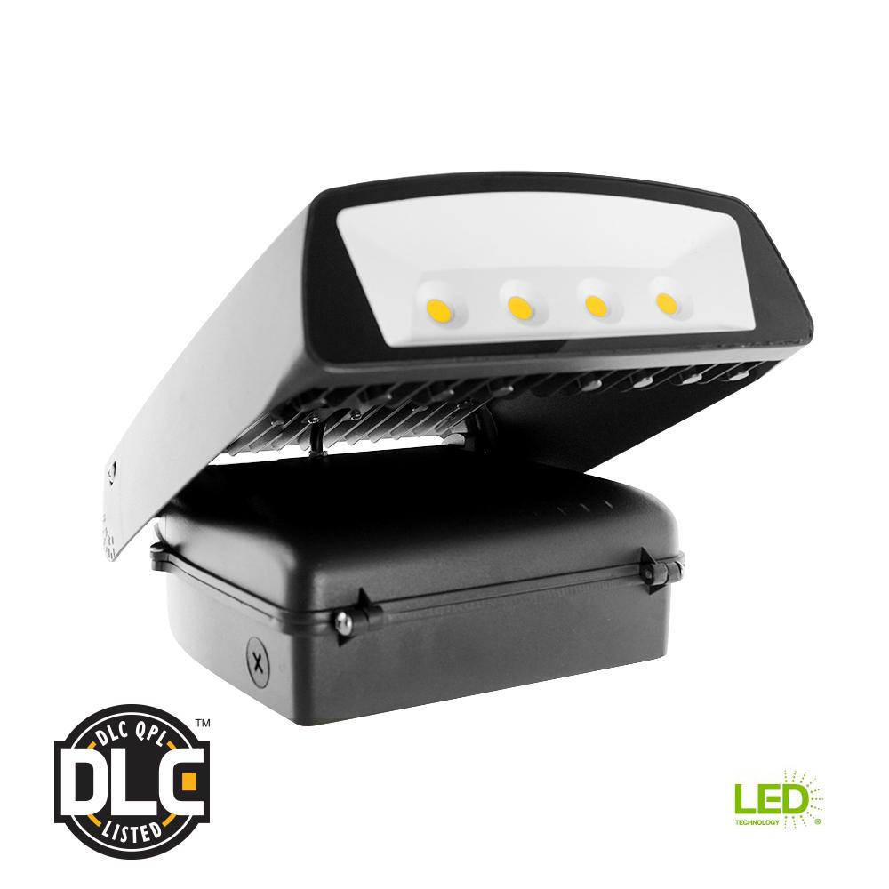 70-Watt Black Outdoor Integrated LED Wall Pack Light