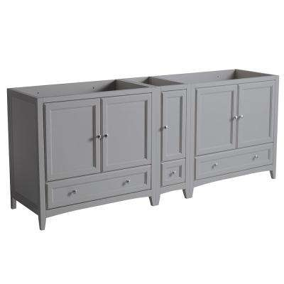 Oxford 83 in. W Traditional Double Bath Vanity Cabinet Only in Gray