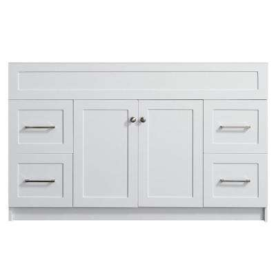 Hamlet 54 in. W x 21.5 in. D x 33.5 in. H Bath Vanity Cabinet Only in White