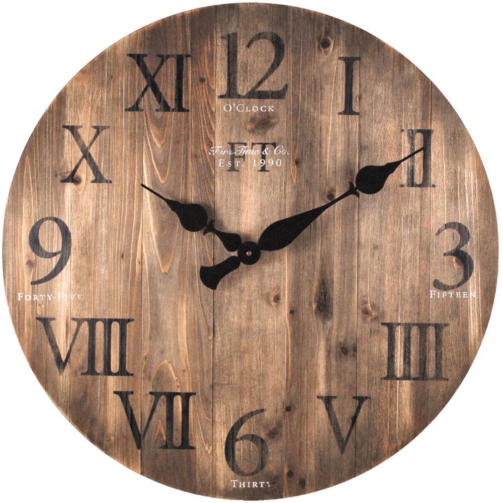 Weathered Barn Wood FirsTime 50075 Wall Clock
