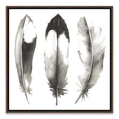 """Watercolor Feathers II"" by Grace Popp Framed Printed Canvas Wall Art"