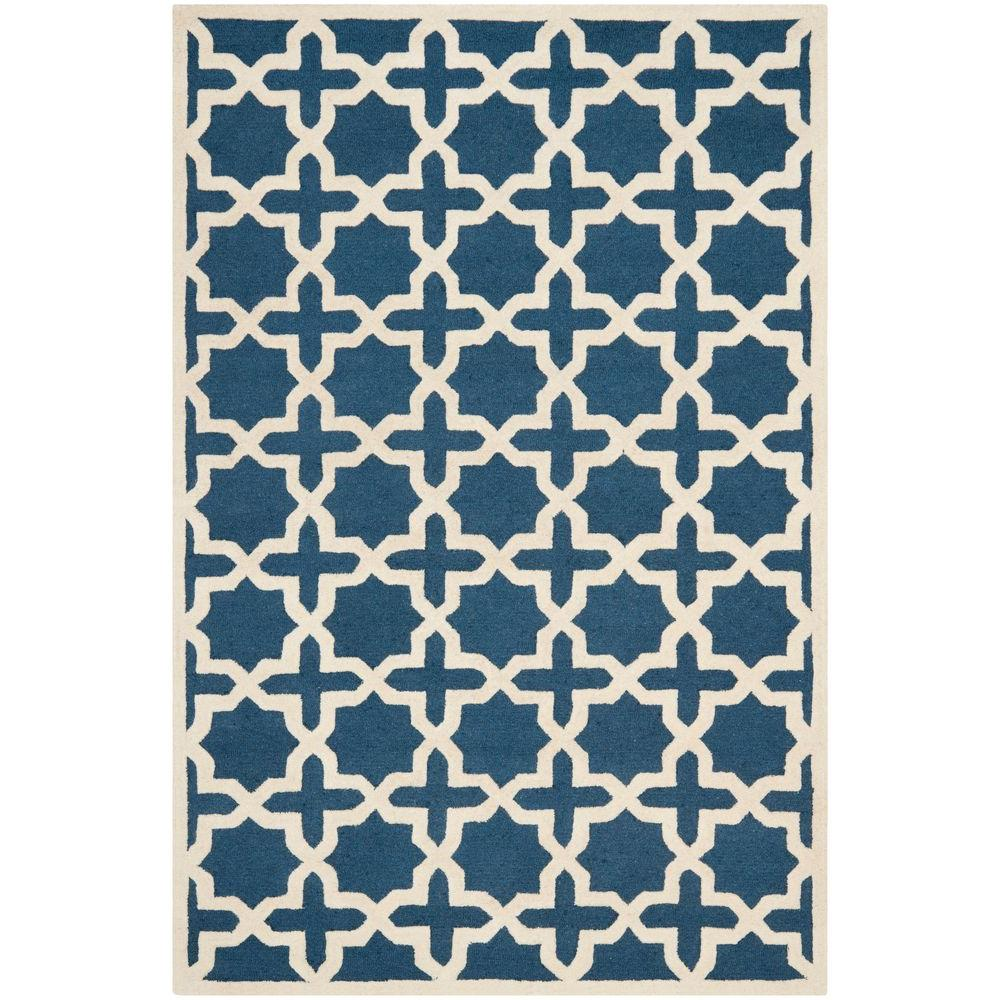 Safavieh Cambridge Navy Blue/Ivory 5 ft. x 8 ft. Area Rug