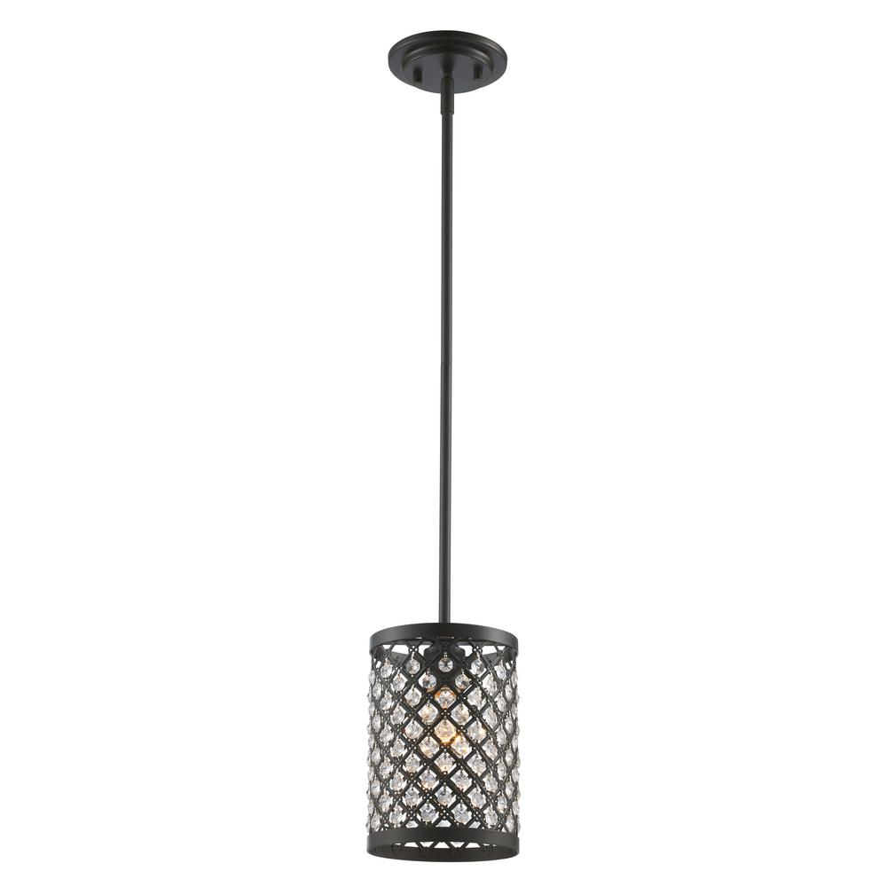 Bel Air Lighting Infusion 1-Light Rubbed Oil Bronze Pendant
