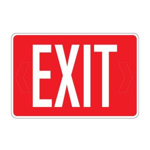 Rectangular Plastic Exit 4-in-1 Sign by
