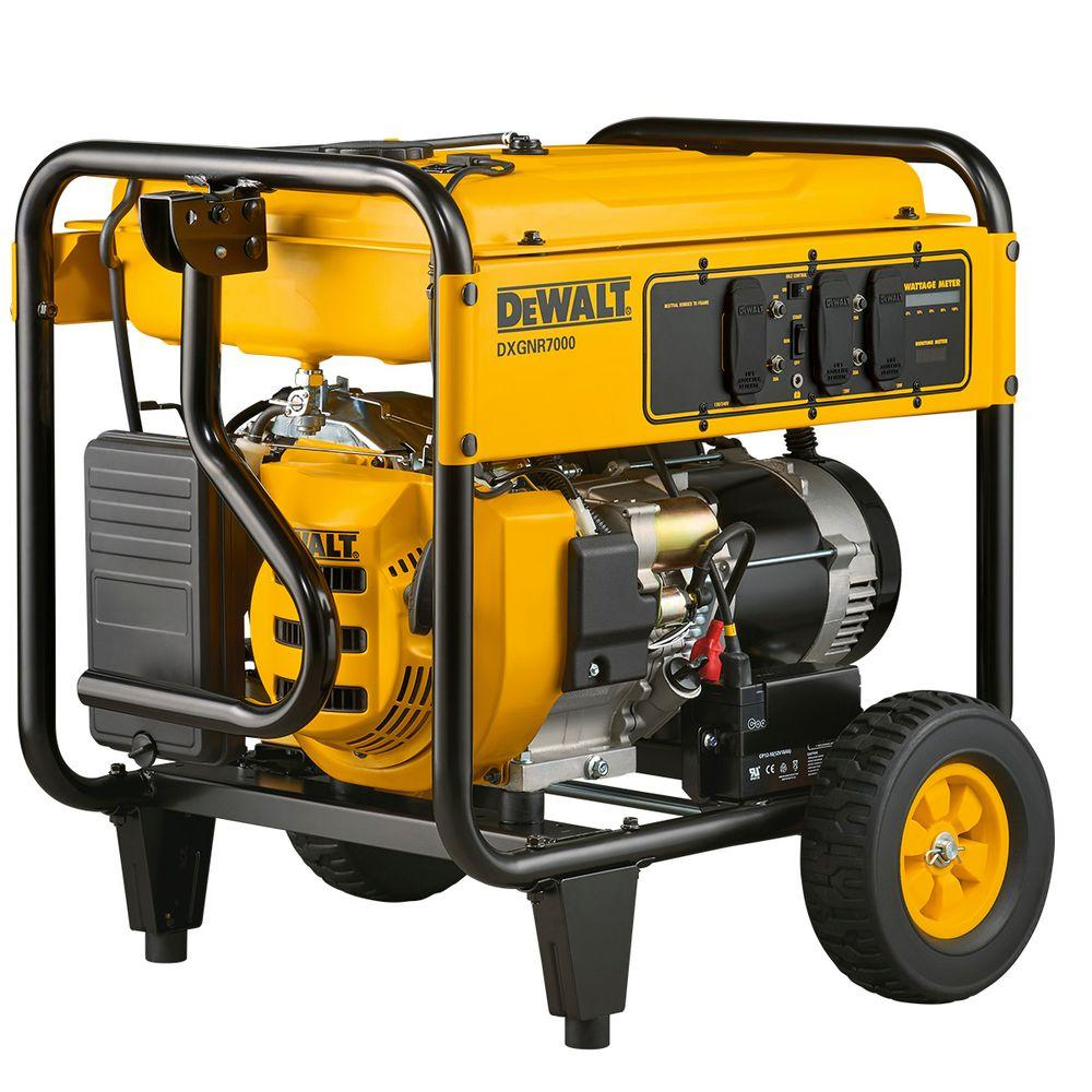 generator. DEWALT 7,000-Watt Gasoline Powered Electric Start Portable Generator The Home Depot