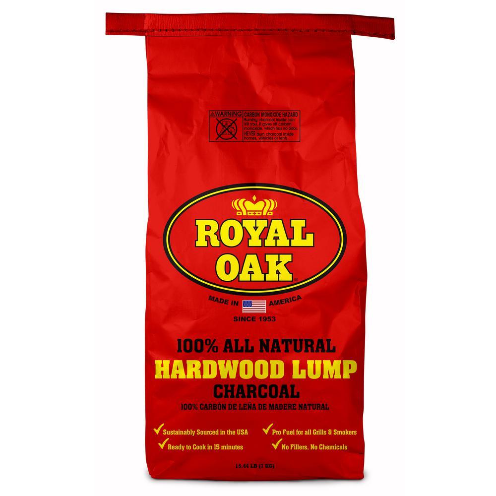 15.44 lb. 100% All Natural Hardwood Lump Charcoal