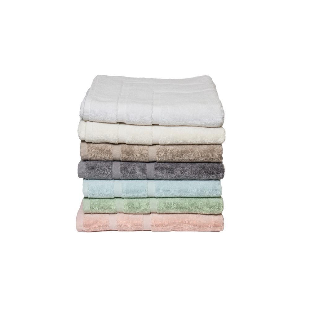 Diplomat 6-Piece 100% Cotton Bath Towel Set in White