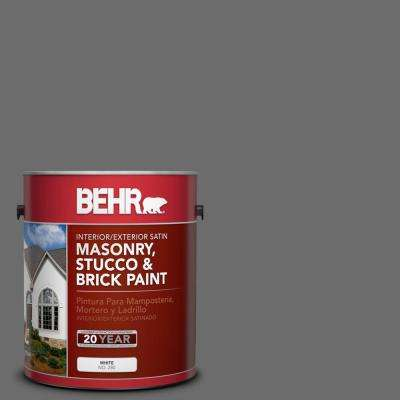1 gal. #780F-6 Dark Granite Satin Interior/Exterior Masonry, Stucco and Brick Paint