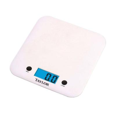 Digital Ultra Thin Kitchen Scale in White