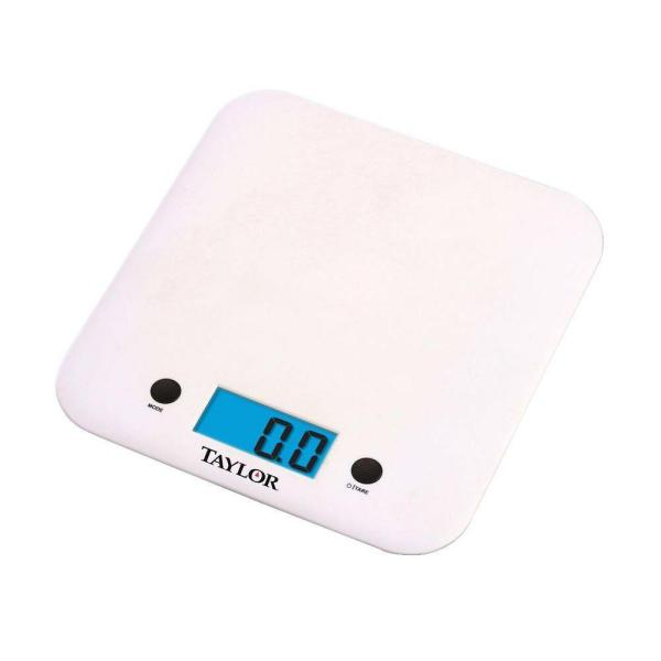 Taylor Digital Ultra Thin Kitchen Scale in White