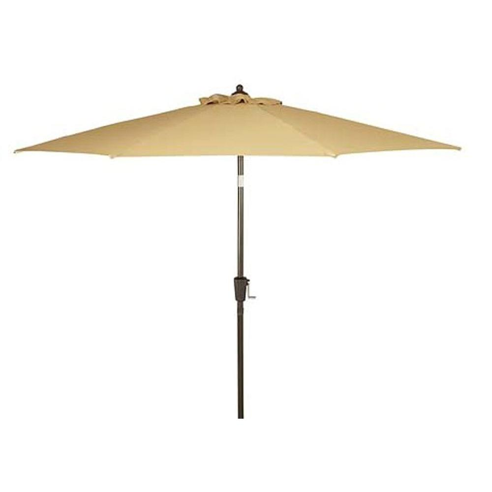 null 9 ft. Patio Umbrella in Beige