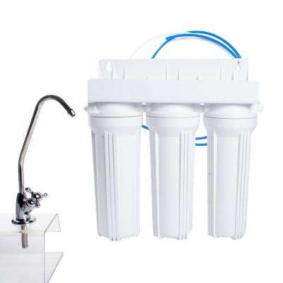 3-Stage Under Counter Water Filtration System in White