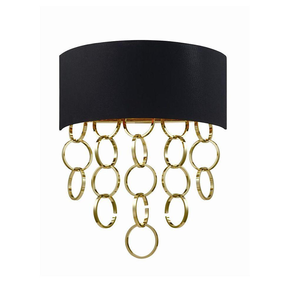 null Novello Collection 2-Light Gold Wall Sconce