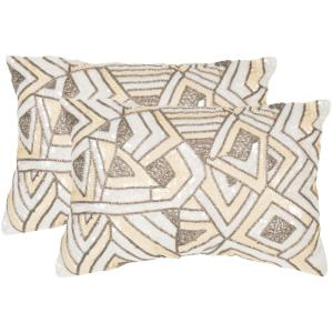 Ricci Embellished Hand-Beaded Pillow (2-Pack)