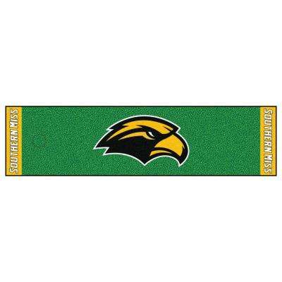 NCAA University of Southern Mississippi 1 ft. 6 in. x 6 ft. Indoor 1-Hole Golf Practice Putting Green
