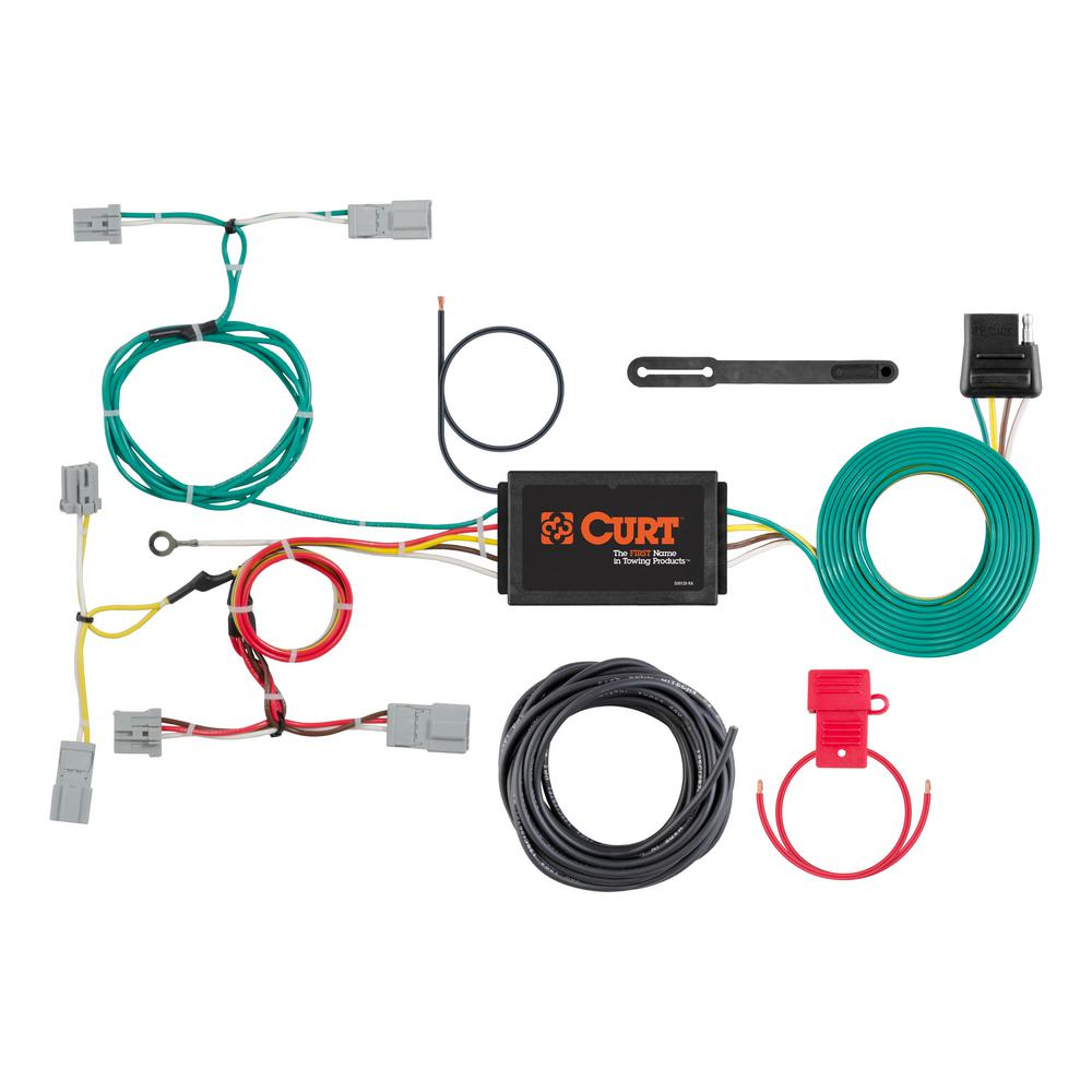 Admirable Curt Custom Wiring Harness 4 Way Flat Output 56310 The Home Depot Wiring 101 Taclepimsautoservicenl