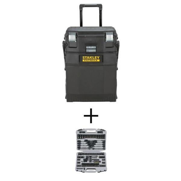 22 in. Cantilever Tool Box with Mechanics Set (99-Piece)