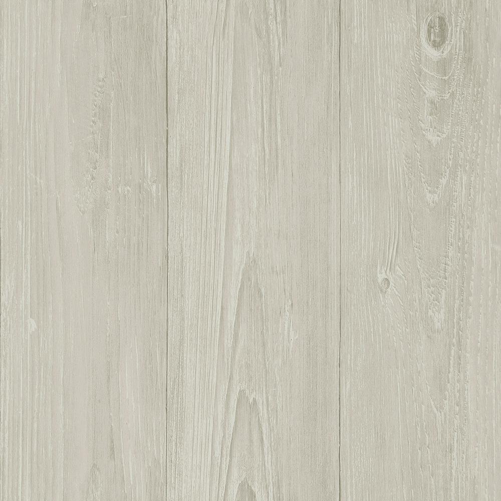 Chesapeake Mapleton Light Grey Faux Wood Wallpaper Sample 3113