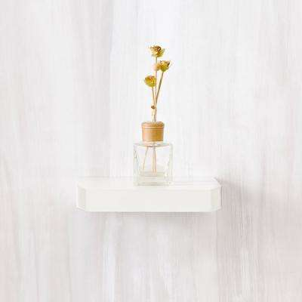 d zboard floating pearl white wall shelf