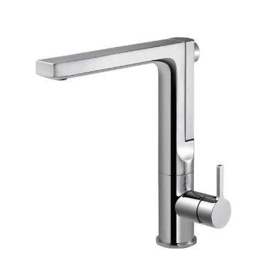 Ascend Single-Handle Pull Out Sprayer Kitchen Faucet with Integrated Pull Up and CeraDox Technology in Polished Chrome