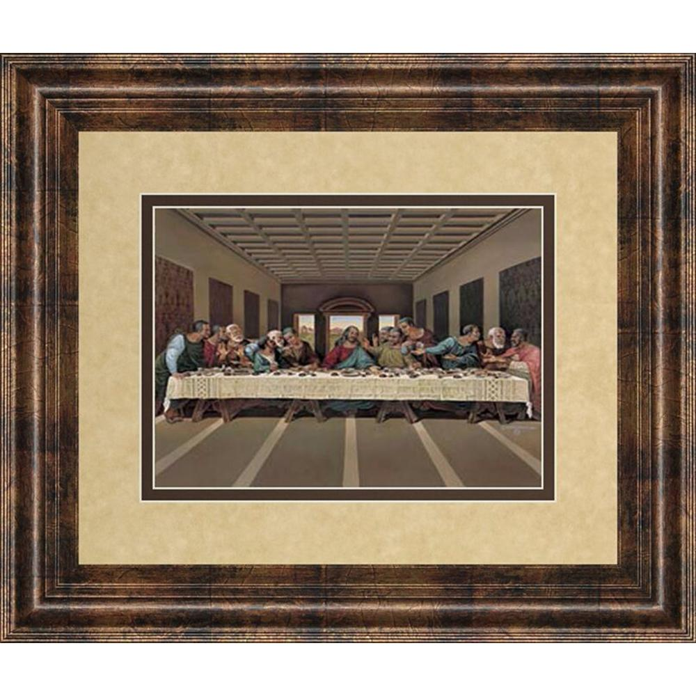 Cly Art 34 In X 40 Last Supper By Leonardo Da Vinci Framed Print Wall Dm2096 The Home Depot