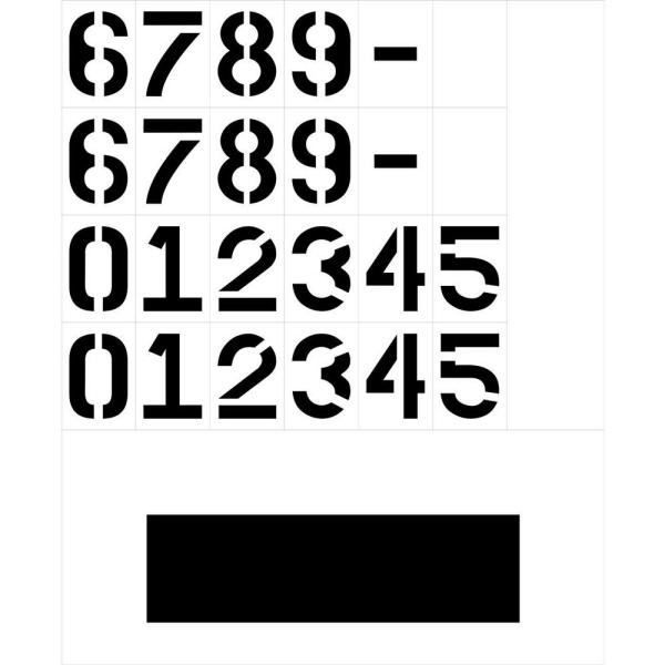 Stencil Ease 3 In Curb Painting Numbers Kcc0005 The Home Depot