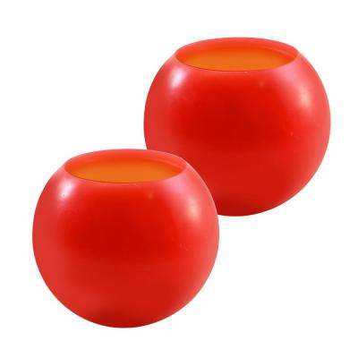 Battery Operated Wax LED Candles - Red (Set of 2)