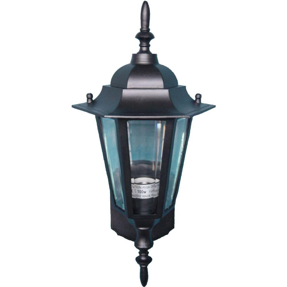 Maxim Lighting Builder Cast 1-Light Black Outdoor Wall Mount