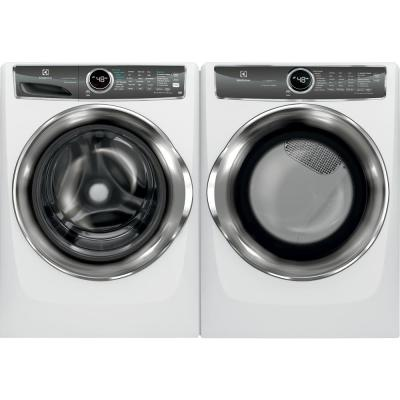 8.0 cu. ft. White Electric Dryer with Steam, Predictive Dry, ENERGY STAR