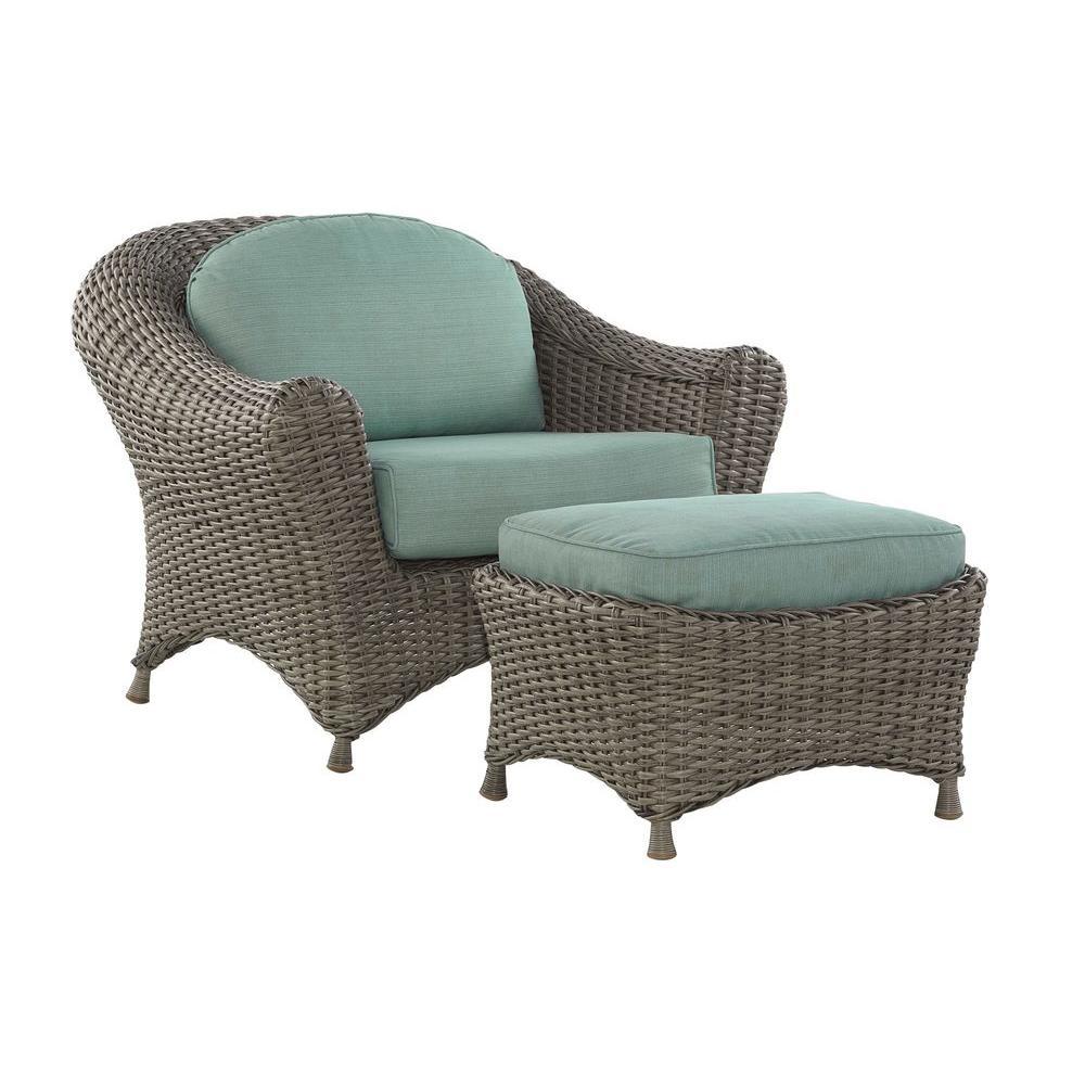 Home Decorators Collection Lake Adela Spa Blue 2-Piece Seating Patio Set