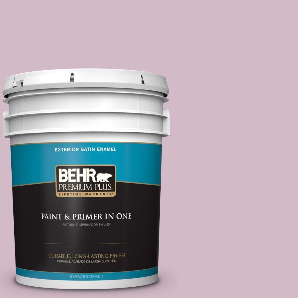 BEHR Premium Plus 5-gal. #T12-16 Queen's Tart Satin Enamel Exterior Paint
