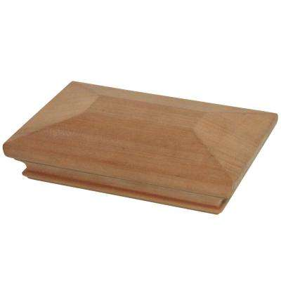Miterless 4 in. x 6 in. Untreated Wood Pyramid Slip Over Fence Post Cap