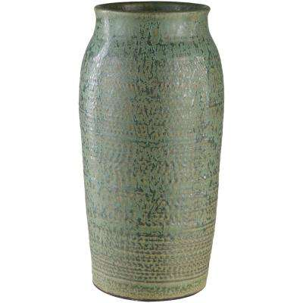 Salia 15.25 in. Ceramic Decorative Vase in Green