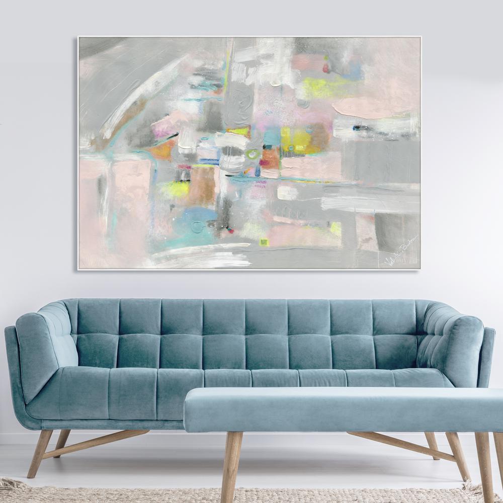 """39 in. x 57 in. """"Pintura"""" Framed Canvas Wall Art"""