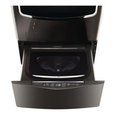 29 in. 1.0 cu. ft. SideKick Pedestal Washer with TWINWash  System Compatibility in Black Stainless Steel